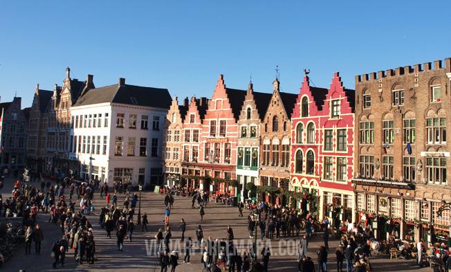 Brujas - Markt desde la terraza del Historium