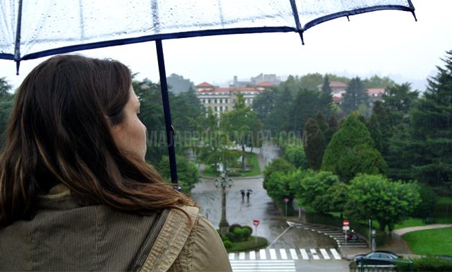 alameda Santiago Compostela en un día