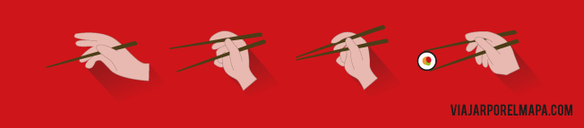Consejos para viajar a Japón - comer con palillos