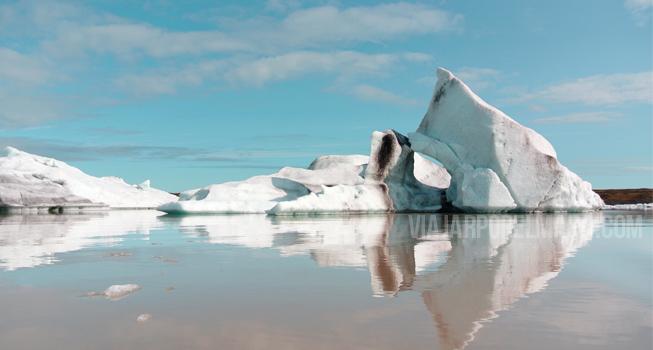 Icebergs Islandia laguna Fjallsárlón