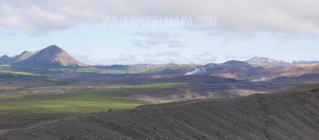 Crater Hverfell - viajarporelmapa