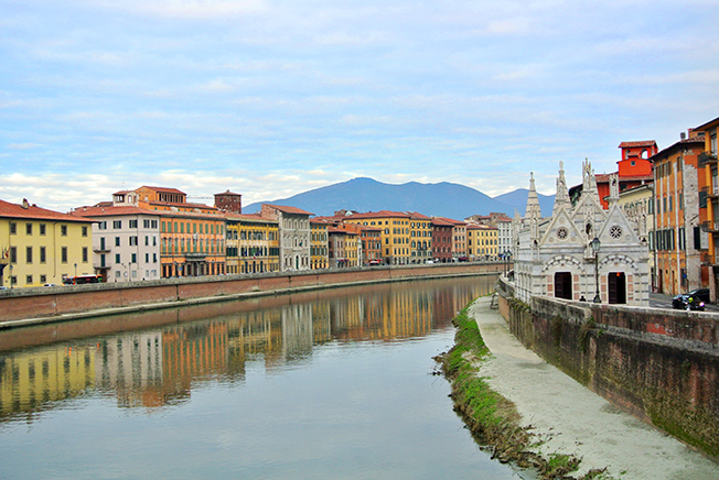 Pisa en un día -Arno