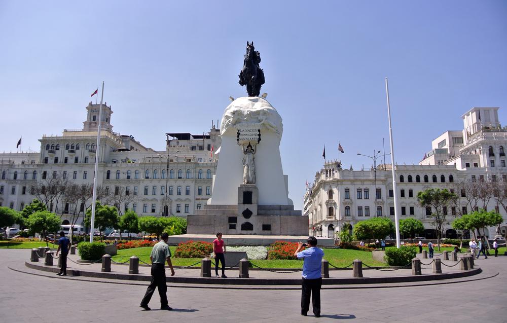Ruta por el centro de Lima plaza San Martín