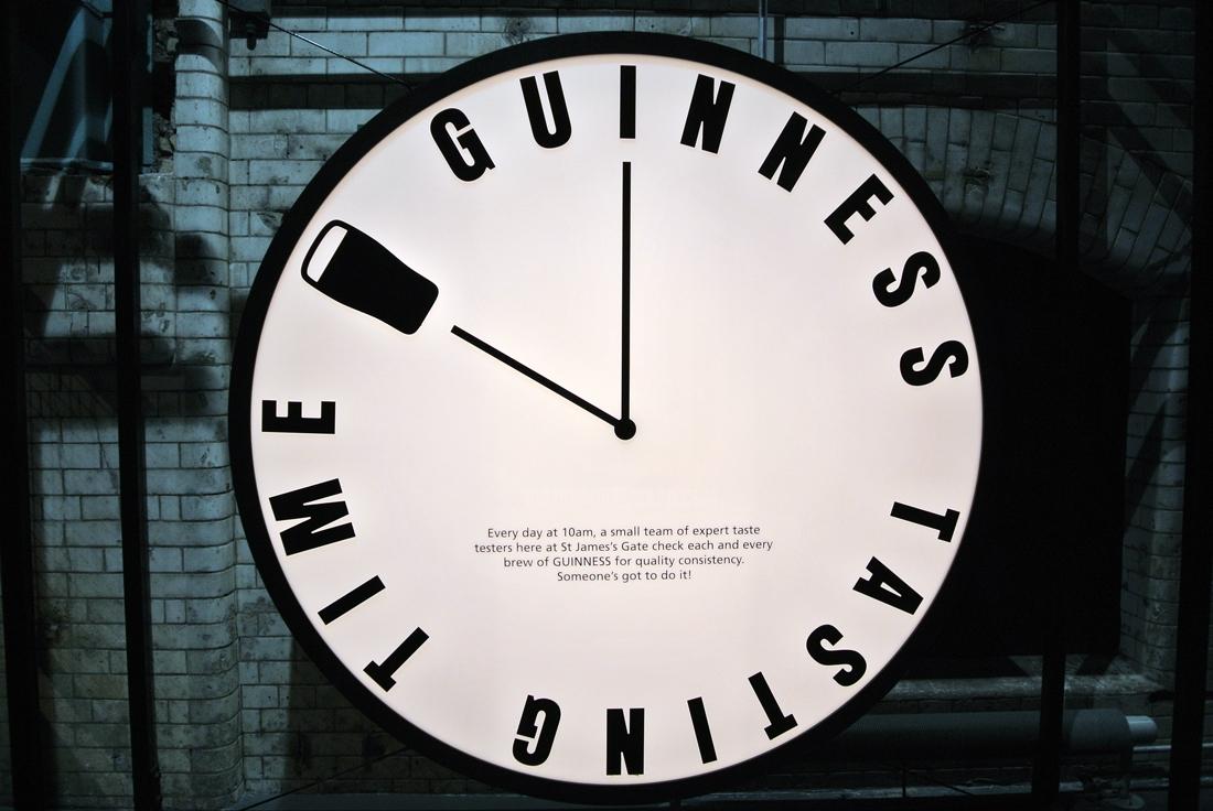 Reloj en Guinness Storehouse