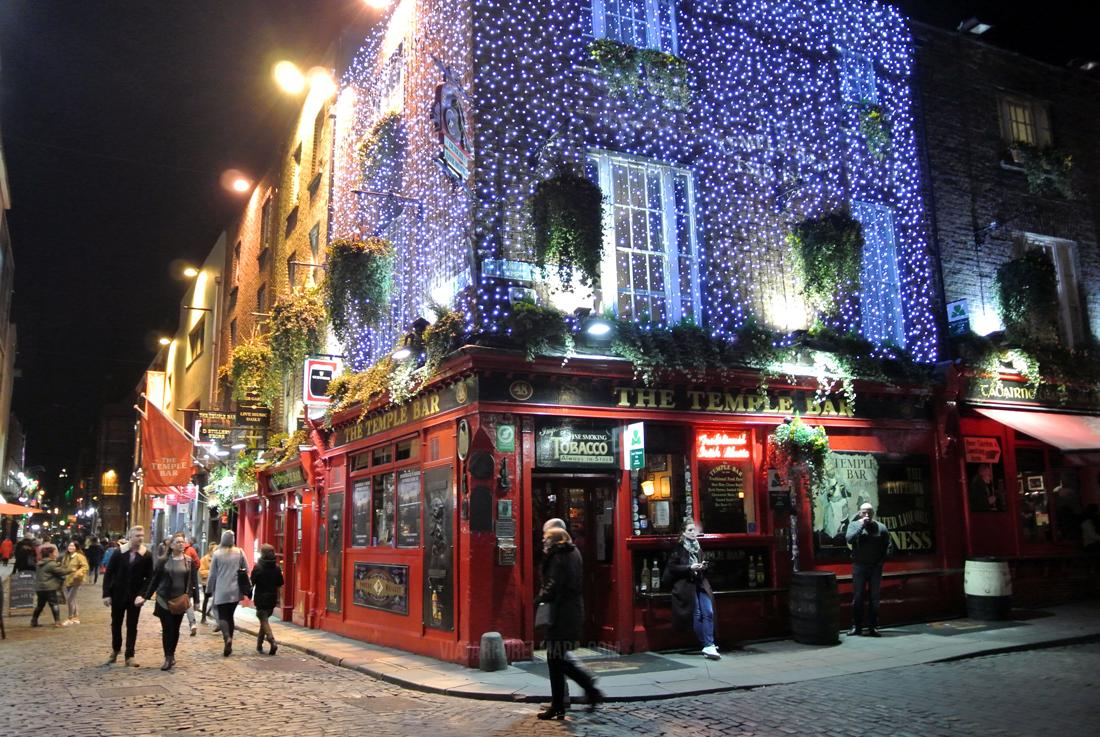 5 días en Dublin - The Temple Bar de noche