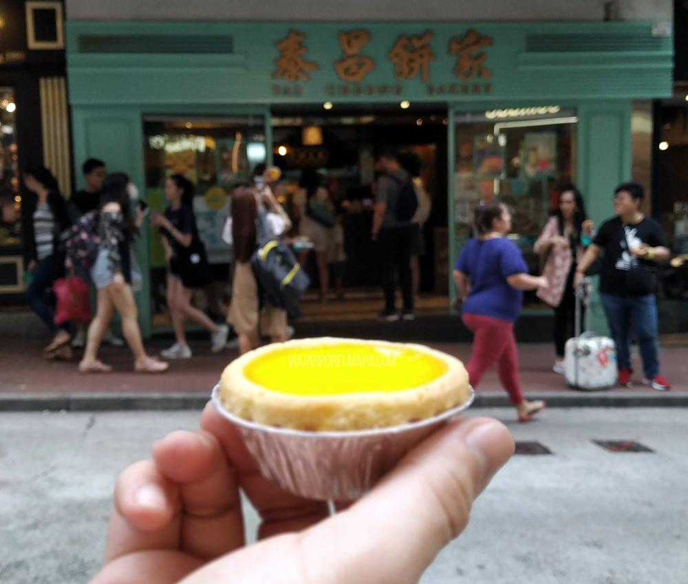Lugares dónde comer en Hong Kong - egg tart