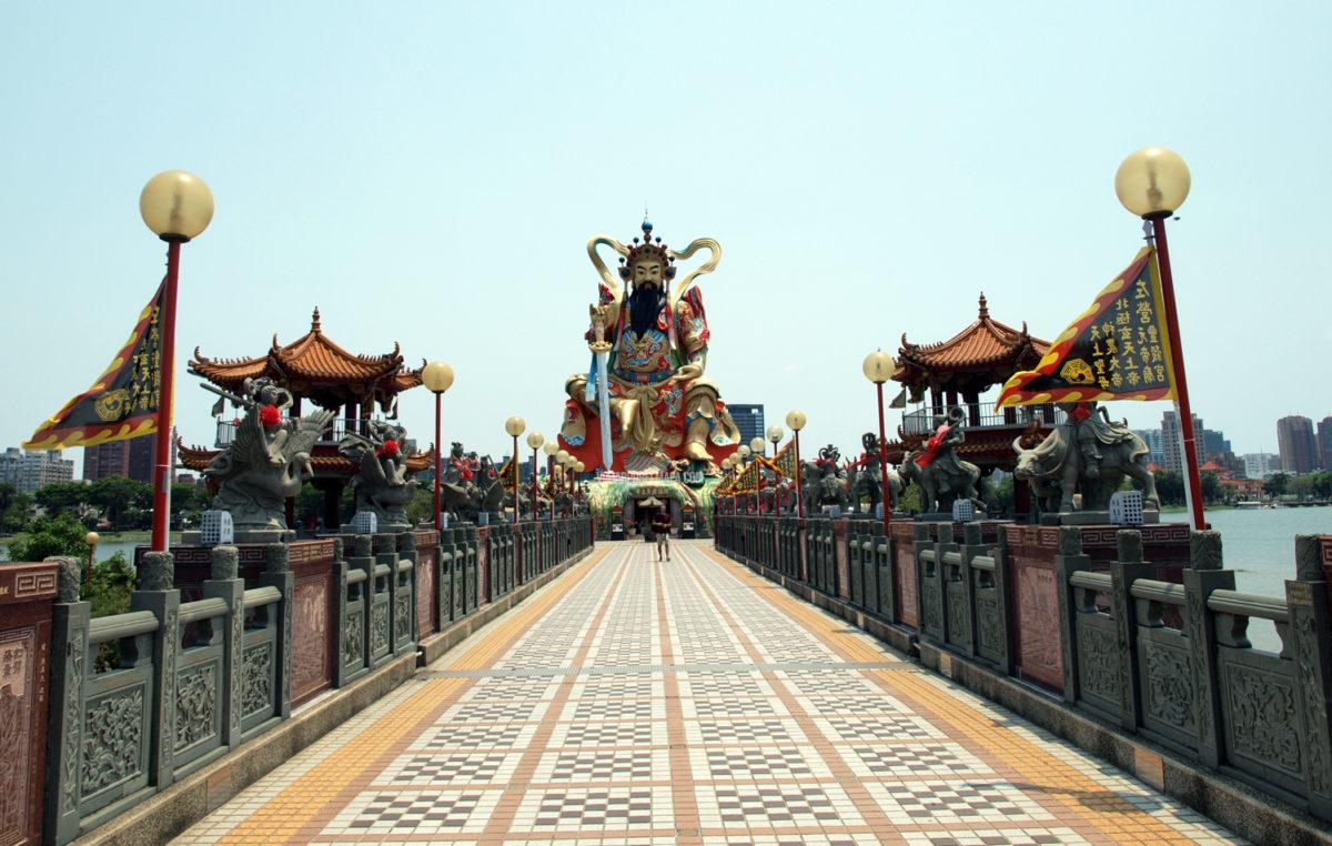 Templo lago Lotus de Kaohsiung